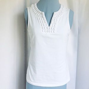 Tee with Beaded Neck